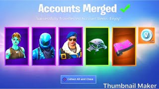 I JUST GOT MY OLD SKINS IN FORTNITE BY ACCOUNT MERGE!!!!!!!