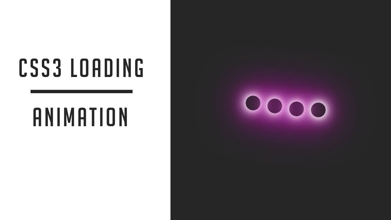 CSS3 Loading Animation Effect | css loader animation
