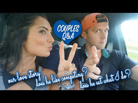 DOES HE APPROVE OF ME COMPETING?? || Couples Q&A FUN || Leg Training