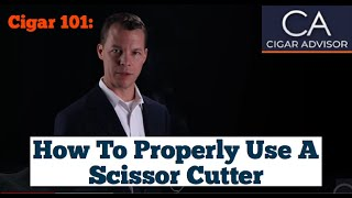 How to Properly Use Scissor Cutter #Cigar101 - Famous Smoke Shop
