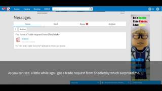 I got a trade request from Shedletsky :) - Roblox Trades #1