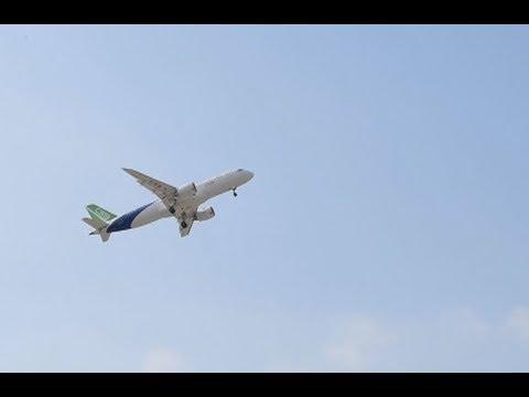 China's Third C919 Passenger Plane Takes Test Flight in Shanghai