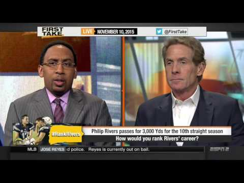 Espn First Take [11/10/2015] Philip Rivers smashes franchise records in close loss