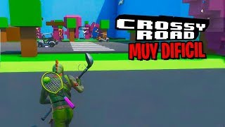 PARKOUR **MUY DIFICL** Y **MUY FACIL** CROSSY ROAD EN FORTNITE