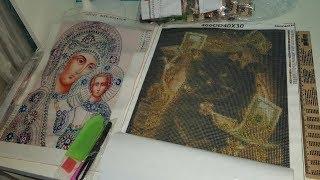 Денежный Кот 30 на 40 см от Nabi. Шикарная икона с новыми золотыми стразами. Распаковка. Обзор.