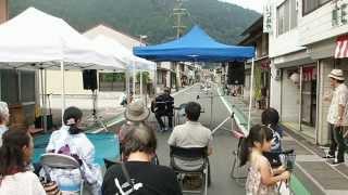 中部まつり地割れ花火ストリートライブ。「名倉マコト」
