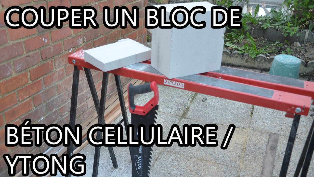 couper un bloc en b ton cellulaire ytong youtube. Black Bedroom Furniture Sets. Home Design Ideas