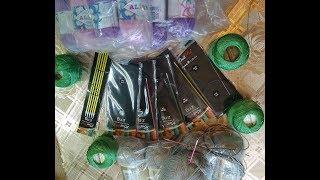 Обзор посылки (спицы пряжа), мои инструменты для вязания