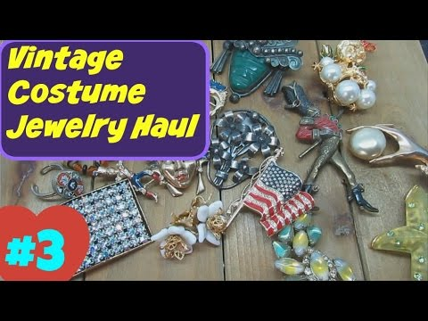 Vintage Costume Jewelry Haul #3   February 2016 Ep  02   Garage Yard Estate Sales