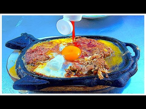 American Street Food Breakfast - Beef Steak EGG meat with Bread, So Delicious in Vietnam