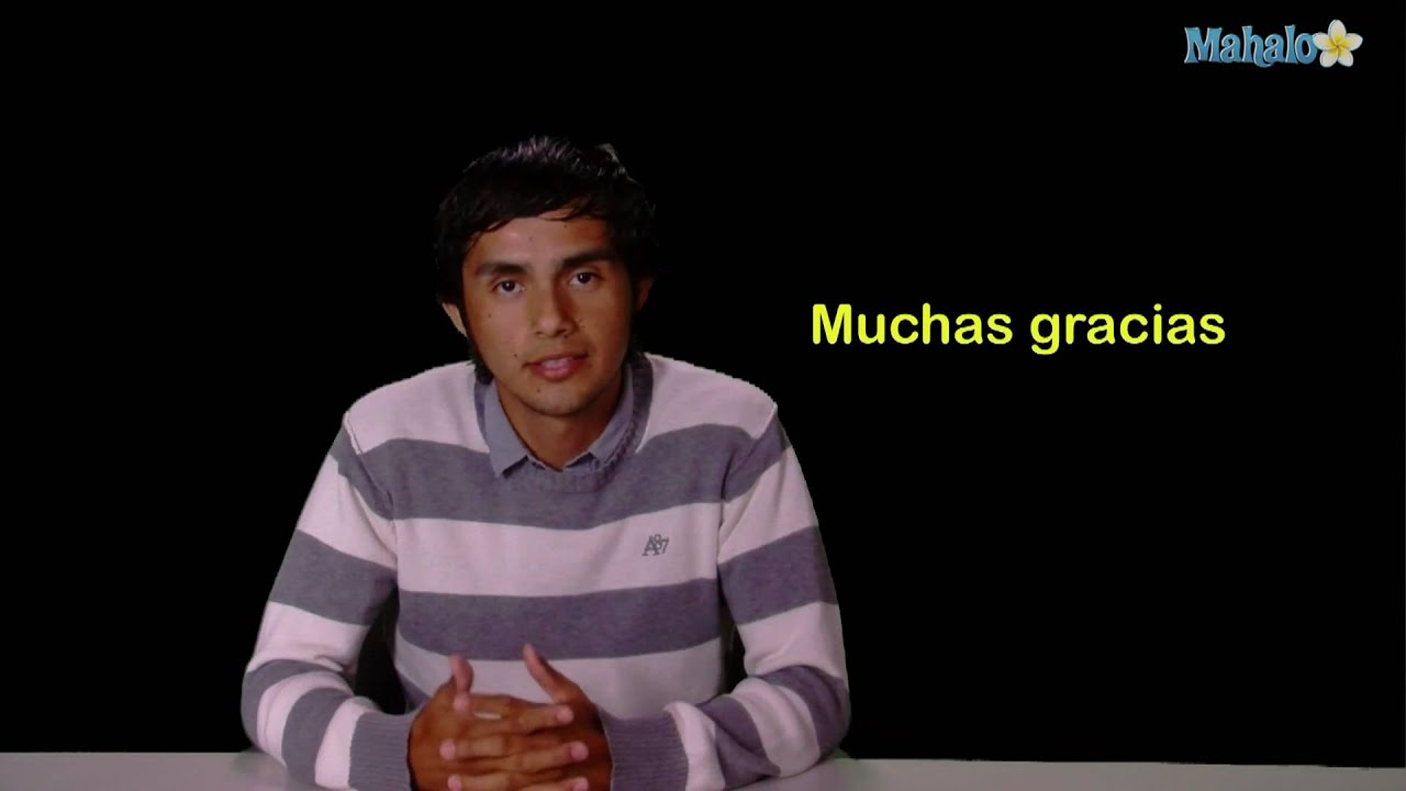 How to say thank you in spanish youtube how to say thank you in spanish solutioingenieria Images