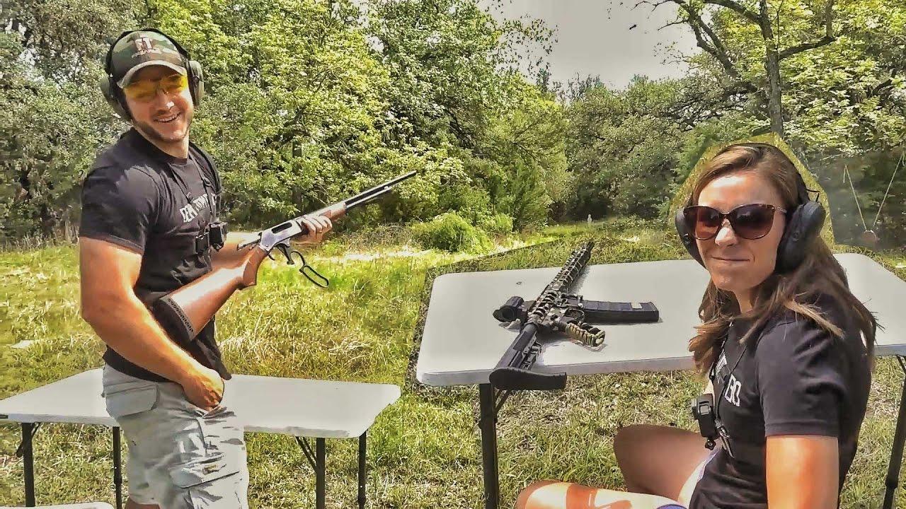 Кто лучше стреляет — муж или жена? | Разрушительное ранчо | Перевод Zёбры