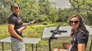 Кто лучше стреляет - муж или жена? | Разрушительное ранчо | Перевод Zёбры