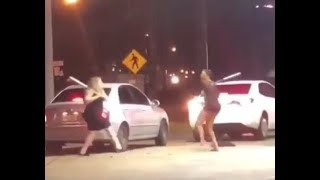 CRAZY GIRLS FIGHT EACH OTHER WITH BASEBALL BATS!!