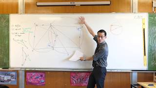 Tough Circle Geometry Question (2 of 3: Proving a given chord is a diameter)