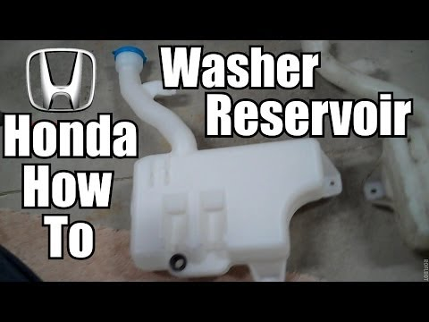Honda Accord Windshield Washer Reservoir Replacement Youtube