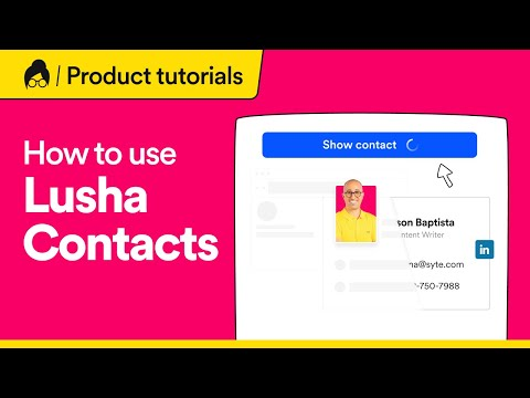 How to use Lusha Extension | B2B web browser extension  to find contact and company information
