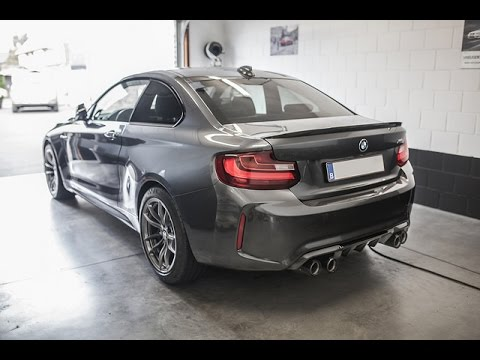 bmw m2 f87 performance exhaust soundclip hd very loud. Black Bedroom Furniture Sets. Home Design Ideas