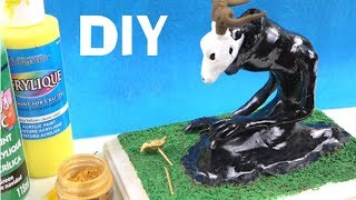 Goodbye: ANCIENT MAGUS BRIDE Elias Ainsworth Sculpture how to diy polymer clay tutorial 魔法使いの嫁 13