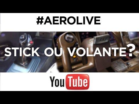 SIDESTICK X MANCHE - TRECHO DO #AEROLIVE 1