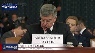 #WashWeekPBS: How Ambassador Bill Taylor's testimony shaped House Democrats' impeachment inquiry