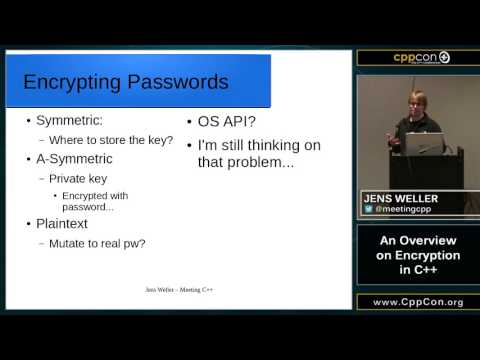 "CppCon 2015: Jens Weller ""An Overview on Encryption in C++"""