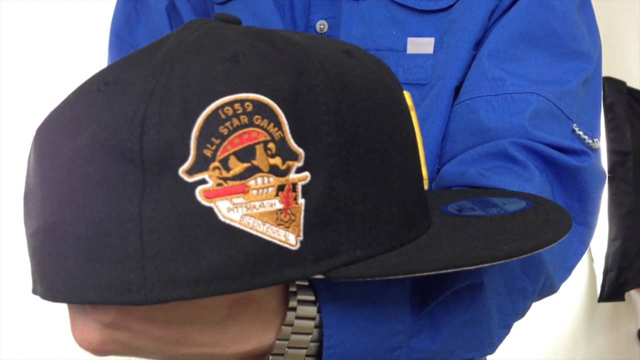 Pirates 1959  SIDE ALL-STAR-PATCH  Fitted Hat by New Era - YouTube 990279342df