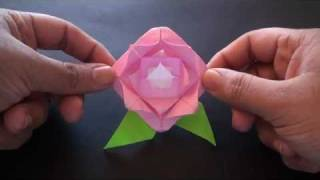 Origami Daily - 180: Easy Rose (valentine's Day) - Tcgames [hd]