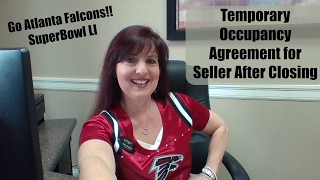 Temporary Occupancy Agreement for Seller After Closing