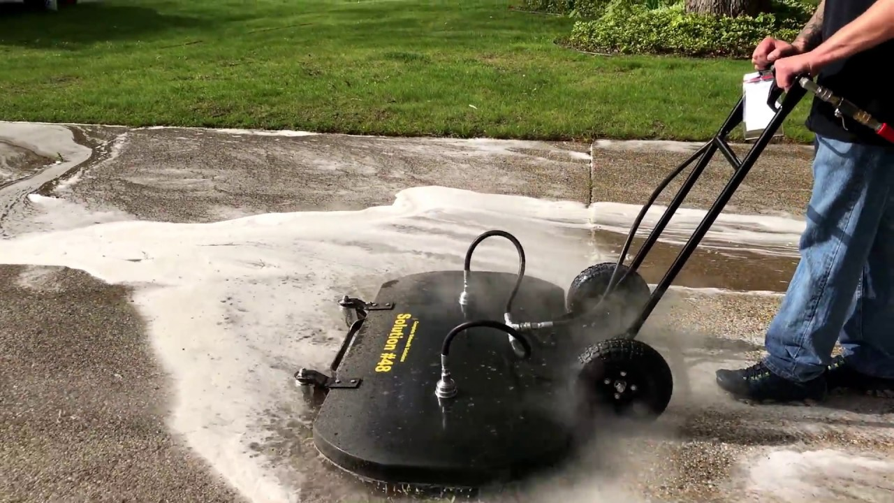 Pressure clean a 6 car driveway in 10 minutes enclosed for Driveway pressure washer