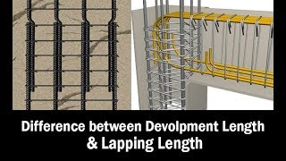 Difference between Development length and Lapping length