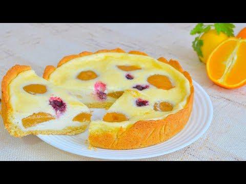 сметанный пирог с вишней пошаговый рецепт