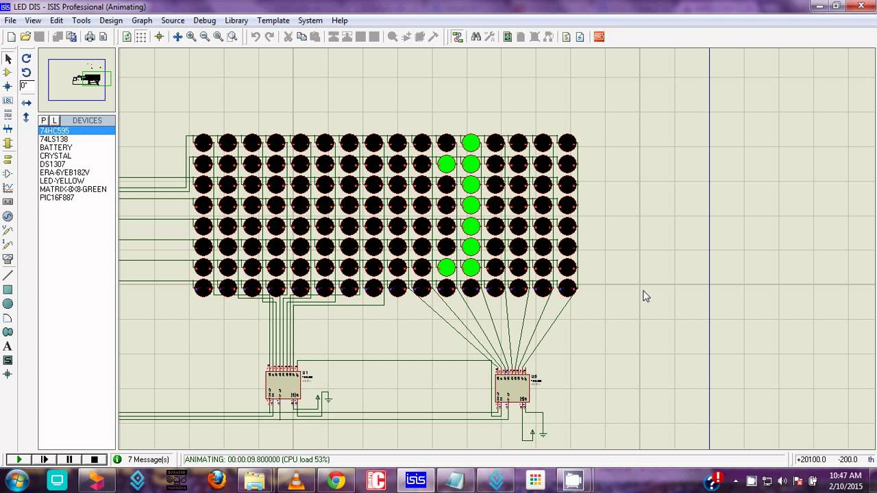 Character Moving 8x16 Led Display Free Code Circuit Youtube Design