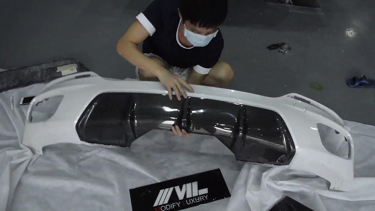 Carbon Fiber Rear Diffuser Splitters For Bmw X6 F16 M