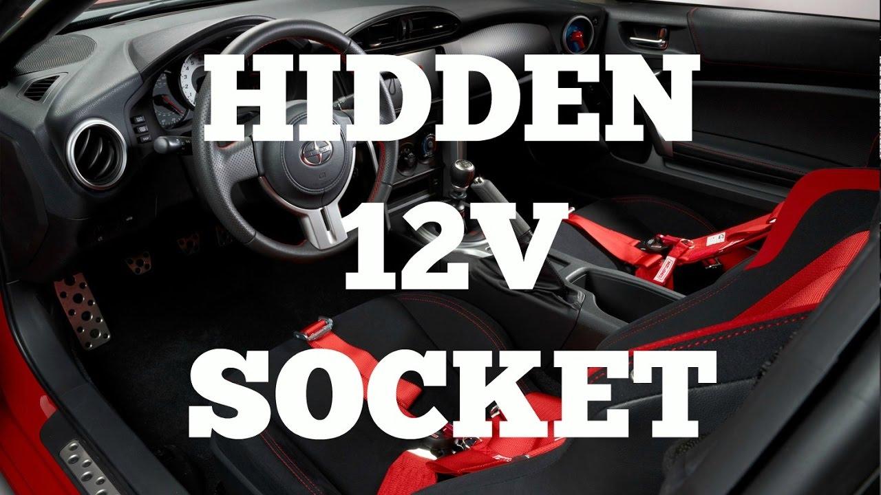 secret 12v socket in scion frs toyota 86 subaru brz [ 1280 x 720 Pixel ]
