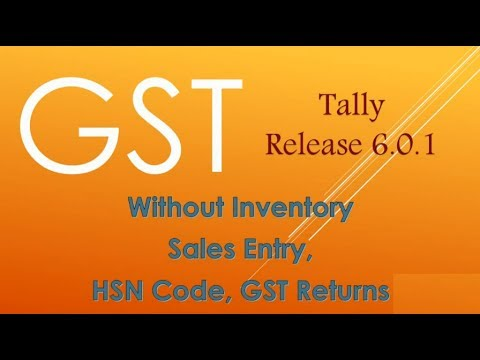 GST without inventory in tally Release 6 0 1 in hindi   YouTube GST without inventory in tally Release 6 0 1 in hindi