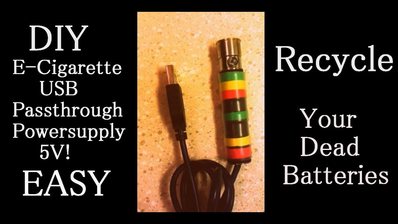 diy e cigarette usb passthrough power supply how to recycle diy e cigarette usb passthrough power supply how to recycle your ego batts cheap mod