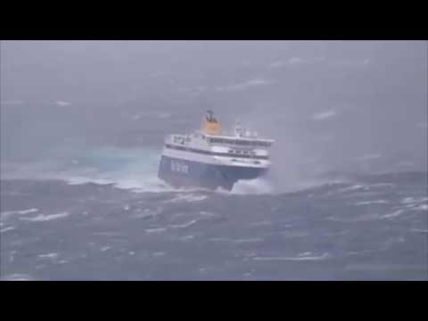 Rough seas in Aegean Sea Greece - 8 to 9 Beaufort - BLUE STAR PAROS
