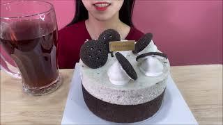 달달 꾸덕한 뚜레쥬르 까만쿠키치즈케이크 먹방 OREO …
