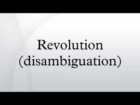 Revolution (disambiguation)