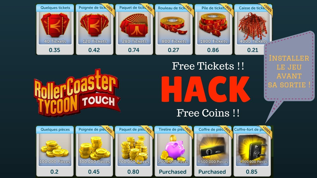 Cracker & Installer Roller Coaster Tycoon Touch [EN] !!