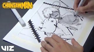 Hell's Paradise Creator Yuji Kaku Draws Chainsaw Man | VIZ