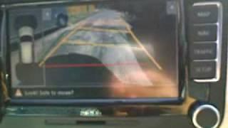 камера заднего вида с прорисовкой траектории Volkswagen Skoda