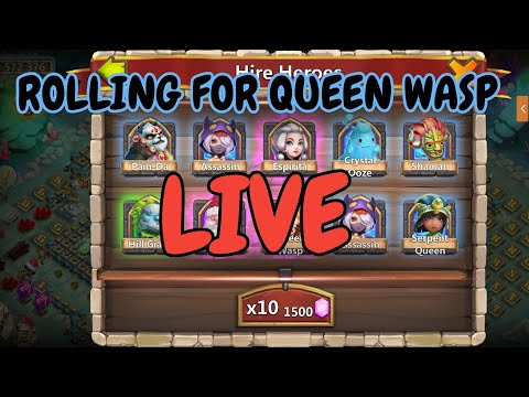 Rolling 100k Gems For Queen Wasp L Castle Clash