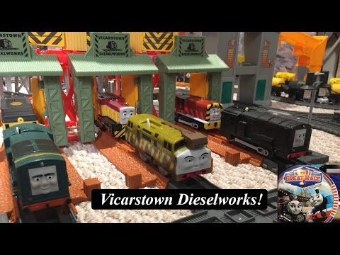 Thomas and Friends Sodor Landmark-Trackmaster Vicarstown Dieselworks!