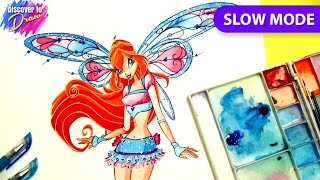 Winx club drawing how to draw Bloom believix - Slow mode