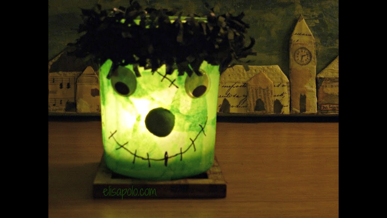 Diy c mo hacer decoraciones para halloween l mpara for Decoraciones para hacer en casa