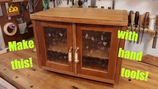 How to make a printer cabinet with antique glass and hand tools!!