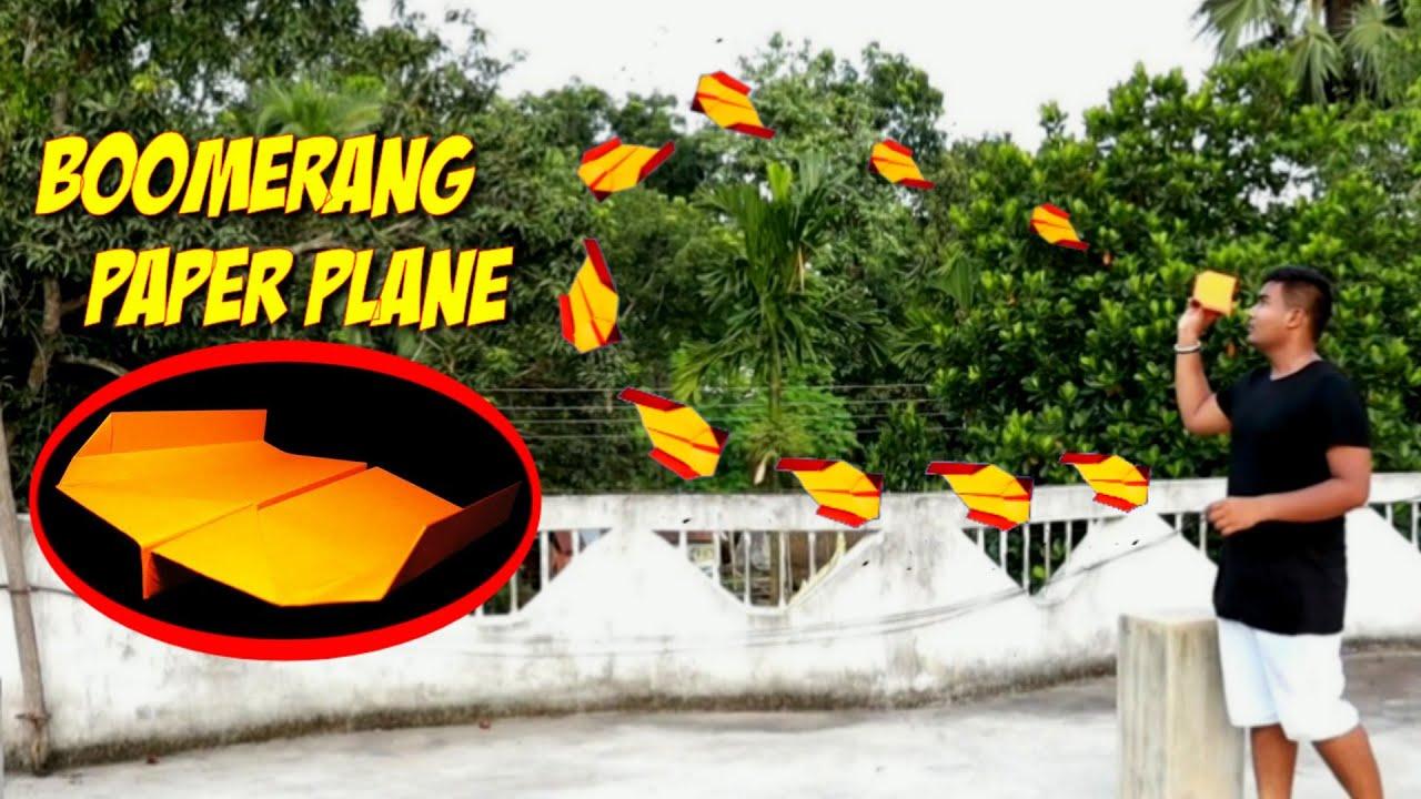 ছুড়লেই ফিরে আসবে এই কাগজের প্লেন টি - How To Make Boomerang Paper Plane 🛩