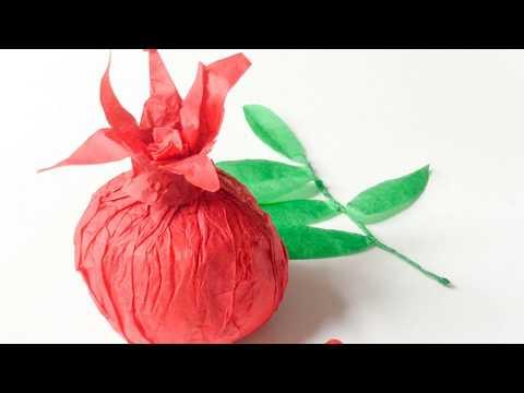 DIY la grenade en papier. DIY paper pomegranate.